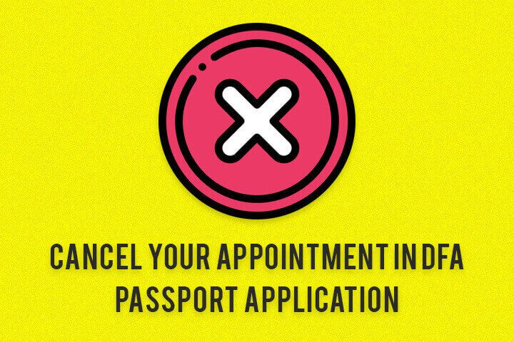 Cancel Your Appointment In Dfa Passport